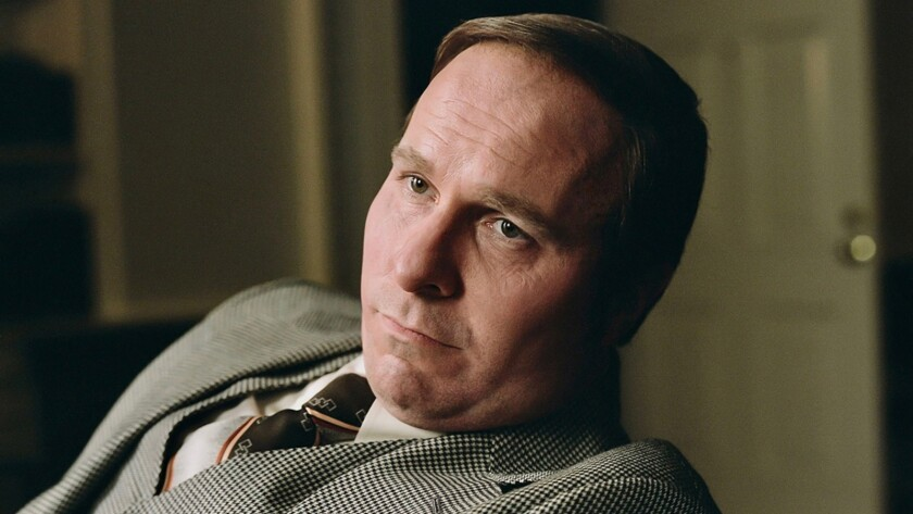 """Christian Bale as Dick Cheney in the movie """"Vice."""""""