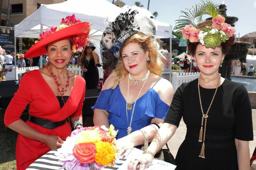 Nani Richards, Chanel Stephens and Lauren Donahue were participants in the 2019 Opening Day Hats Contest.