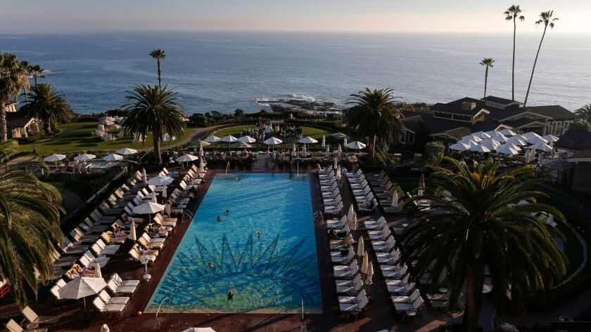 LAGUNA BEACH, CA FEB. 15, 2015: An exterior view of the five star Montage Laguna Beach resort Sunda