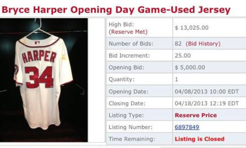 Bryce Harper unhappy that Nationals auction his opening-day jersey