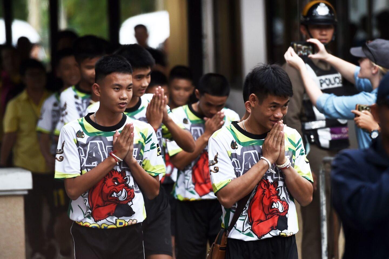 Thai boys released from hospital