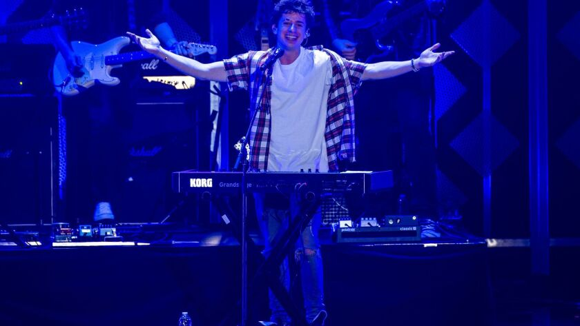 INGLEWOOD, CA - DECEMBER 01: Charlie Puth performs onstage at the 102.7 KIIS FM's Jingle Ball at The