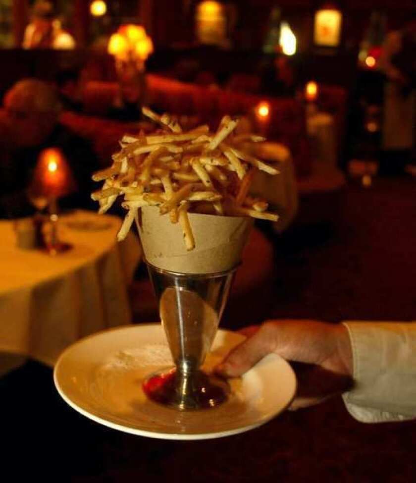 The ultra thin pommes frites at Chat Noir.