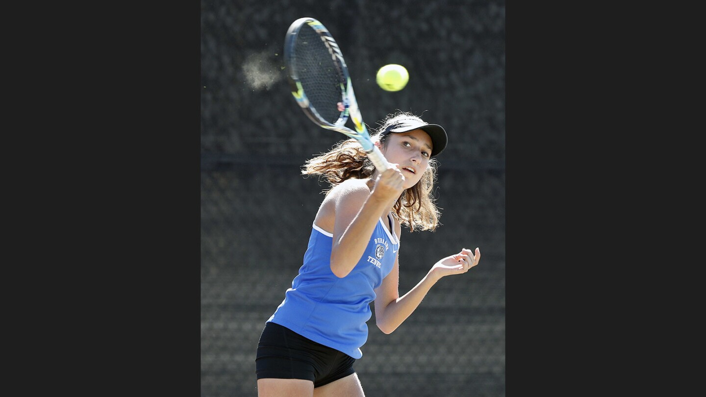 Photo Gallery: Pacific League girls' tennis semifinals and finals at Burroughs High School