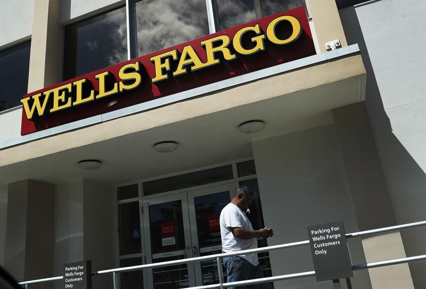 Wells Fargo branch in Miami, Fla.