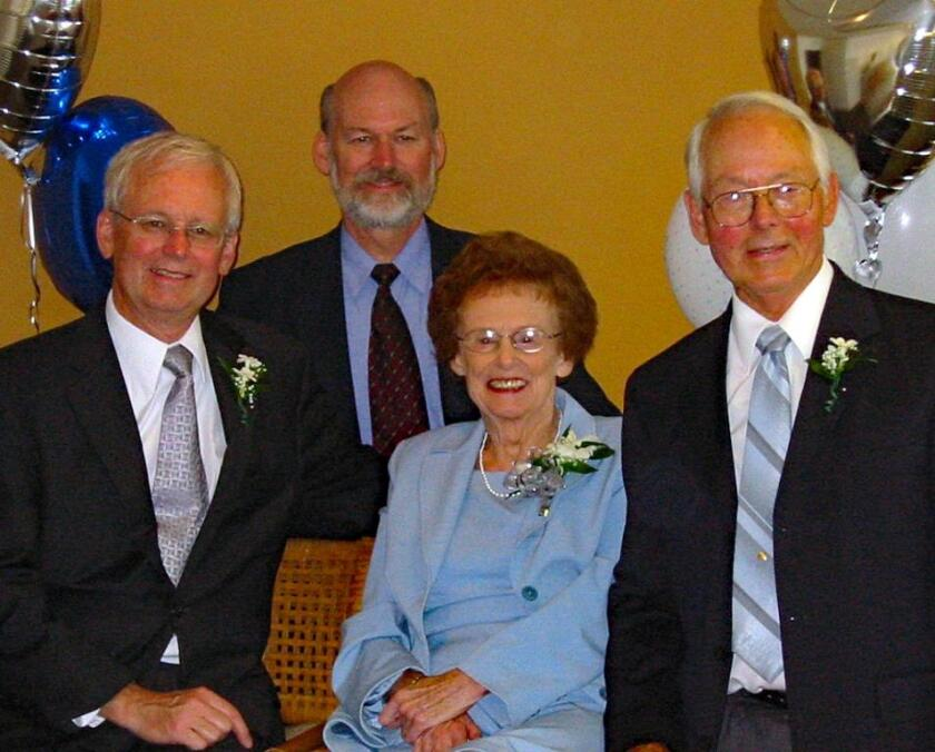 From left, Jim Jackson Jr., Jerry Jackson and their parents, Alice and Jim Jackson, are pictured in 2004.