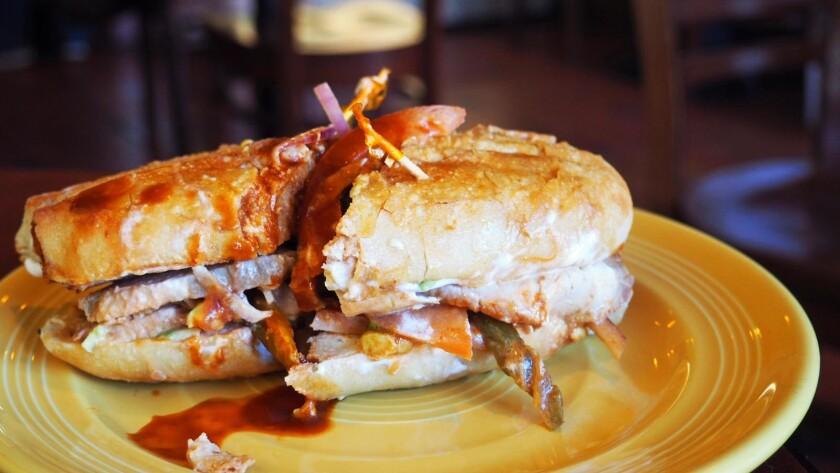 The pork loin lonche from Primera Taza.
