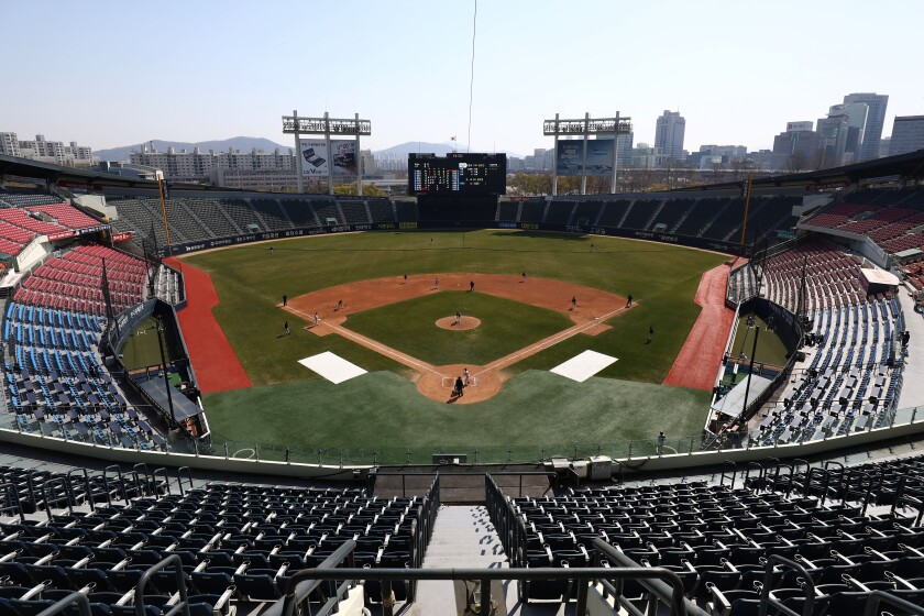 LG Twins Intra-Squad Practice Game Goes On Livestreaming For Fans