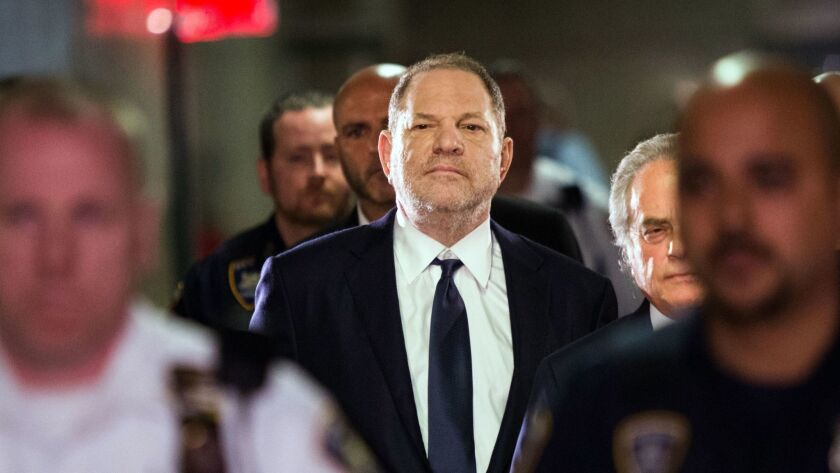Harvey Weinstein enters Manhattan criminal court on June 5, 2018.