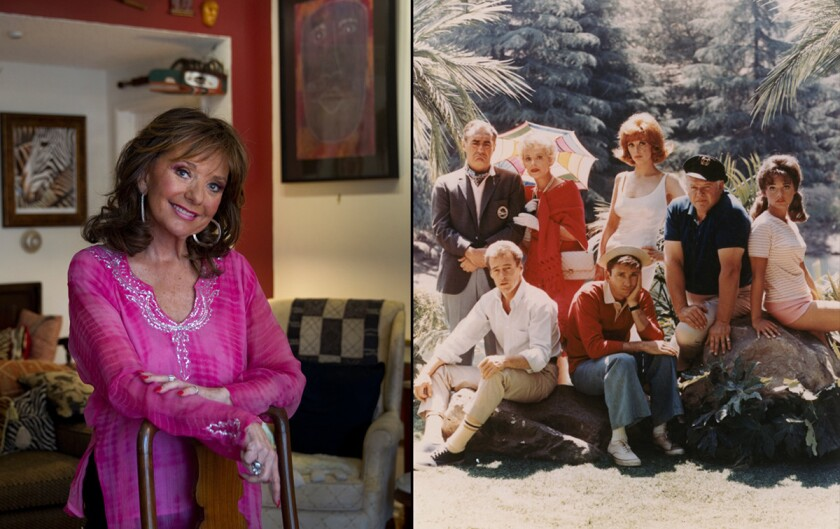 "Dawn Wells at home and as a member of ""Gilligan's Island"""