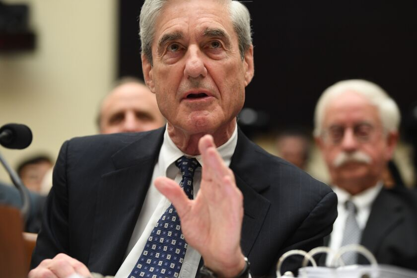 Former Special Prosecutor Robert Mueller testifies before Congress on July 24, 2019, in Washington, DC. - Mueller told US lawmakers Wednesday that his report on Russia election interference does not exonerate Donald Trump, as the president has repeatedly asserted.