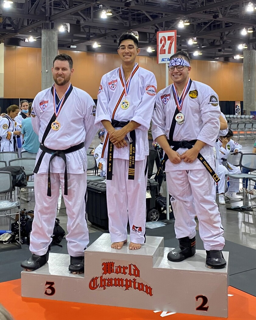 Andrew Heiati won his third straight championship at the ATA World Taekwondo Championships in Phoenix.