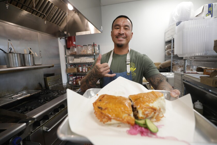 Beeline Krouch, chef and owner of Chinito's Tacos