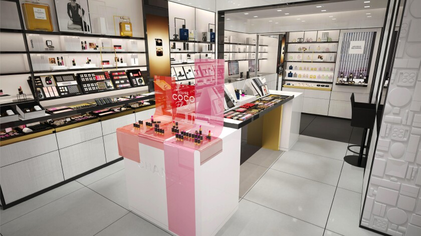 The Chanel beauty boutique in the Pacific Palisades