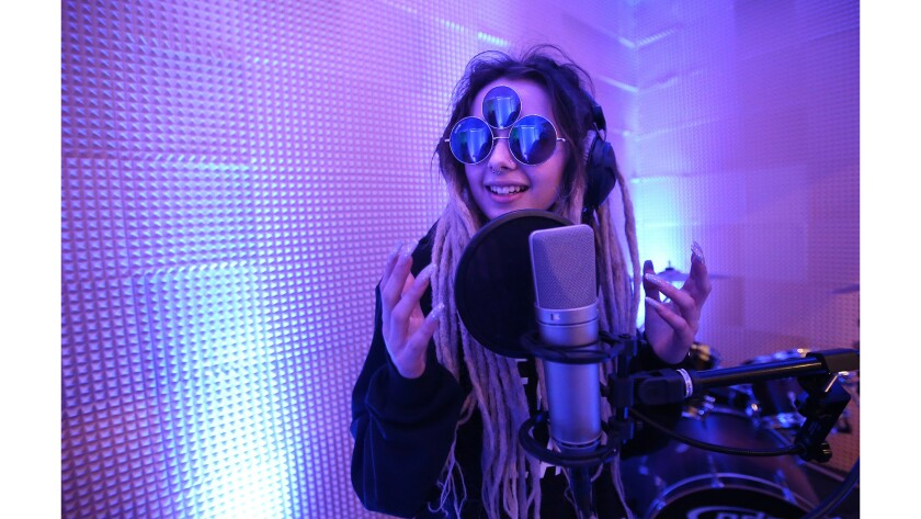 Instagram music star 16-year-old Carisa Zhavia got her start at the OC Hit Factory, a tiny recording