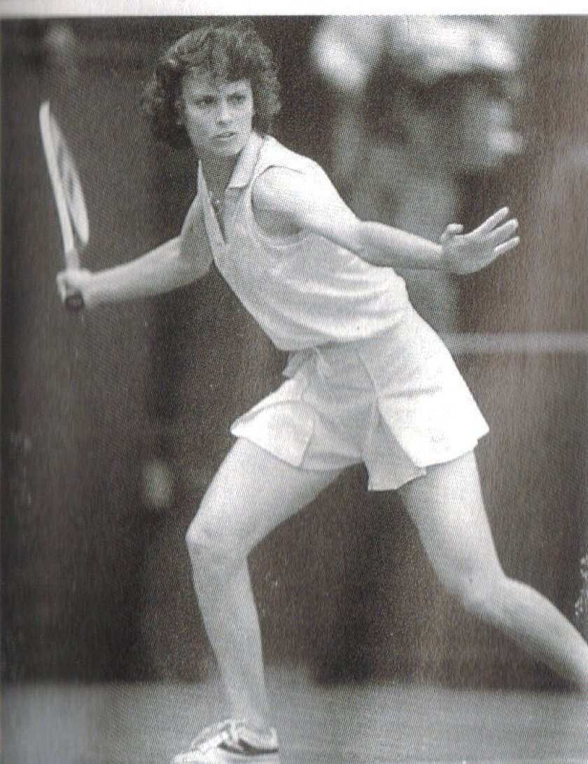 Lucia Romanov (seen here at the height of her professional career) faced off against tennis greats Martina Navratilova, Chris Evert, Billie Jean King and others.
