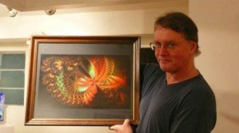 Mike Morse with 'Moth Fractal'