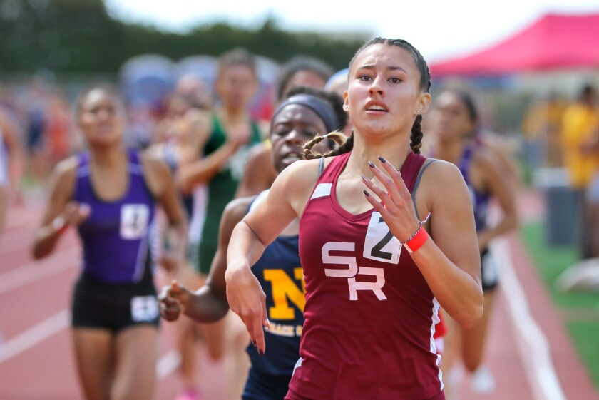 Scripps Ranch's Julia Morales is among the leaders in the 800 meters.