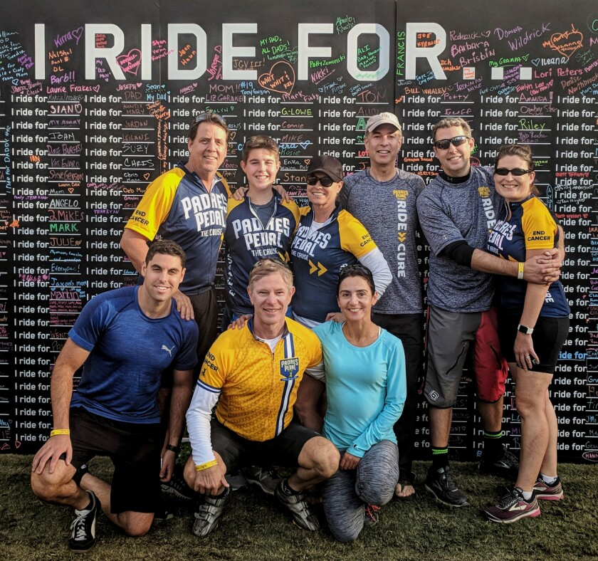 Padres Pedal the Cure team Resilients.
