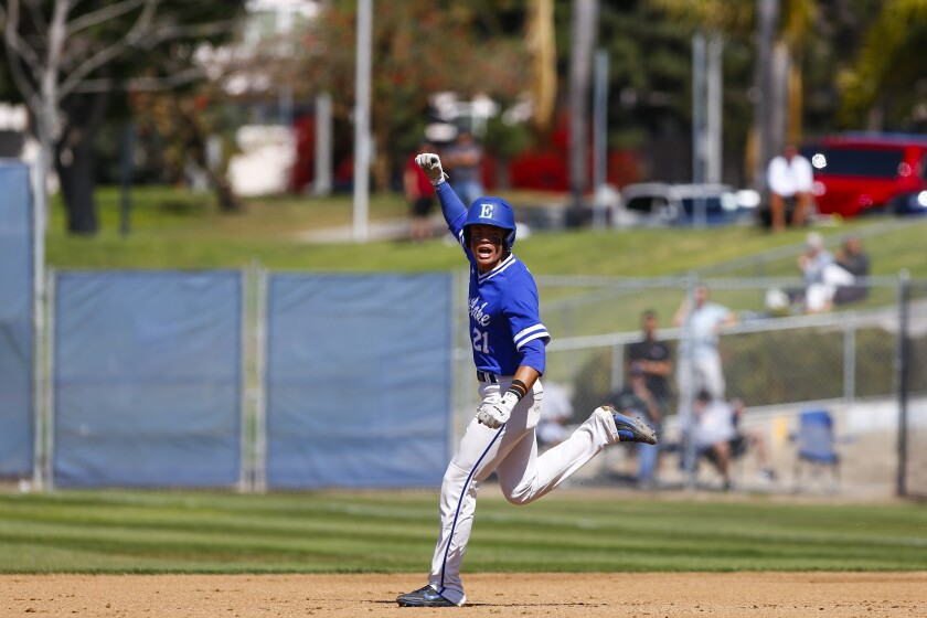 """Titans third baseman Keoni Cavaco, who has signed with SDSU: """"With this team, there is a lot of teaching, a lot of mentoring. But I like it very much. ..."""""""