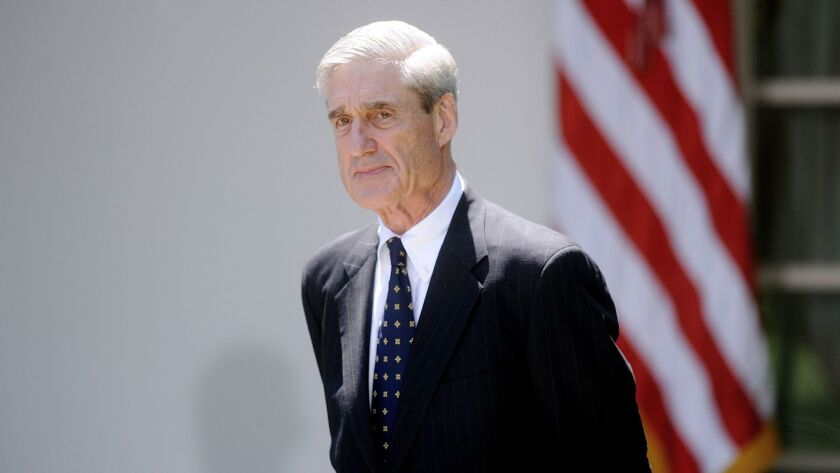 Commentary: Robert Mueller is holding all the cards. He has the latitude to play them when he chooses