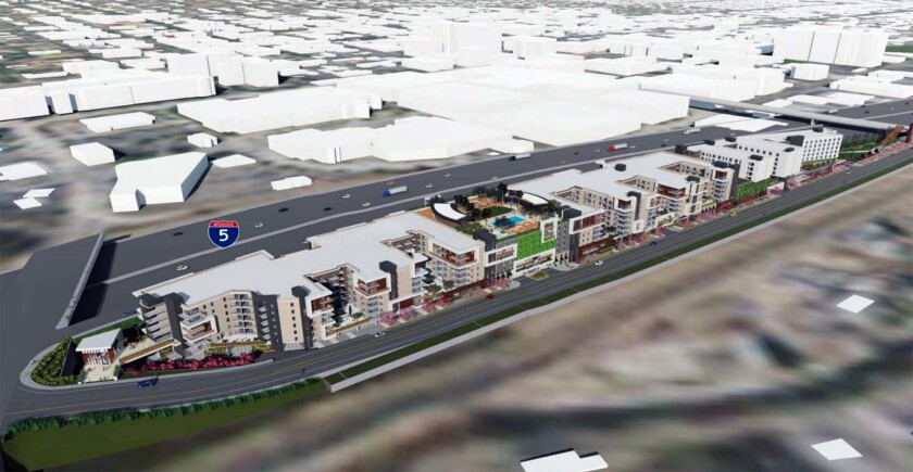 Developers plan for the LaTerra Select Burbank project to have 573 apartment units, 1,067 square feet of retail space and a seven-story, 307-room hotel. Burbank City Clerk Zizette Mullins rejected a petition seeking to overturn the City Council's approval of the project because the document was deemed incomplete.