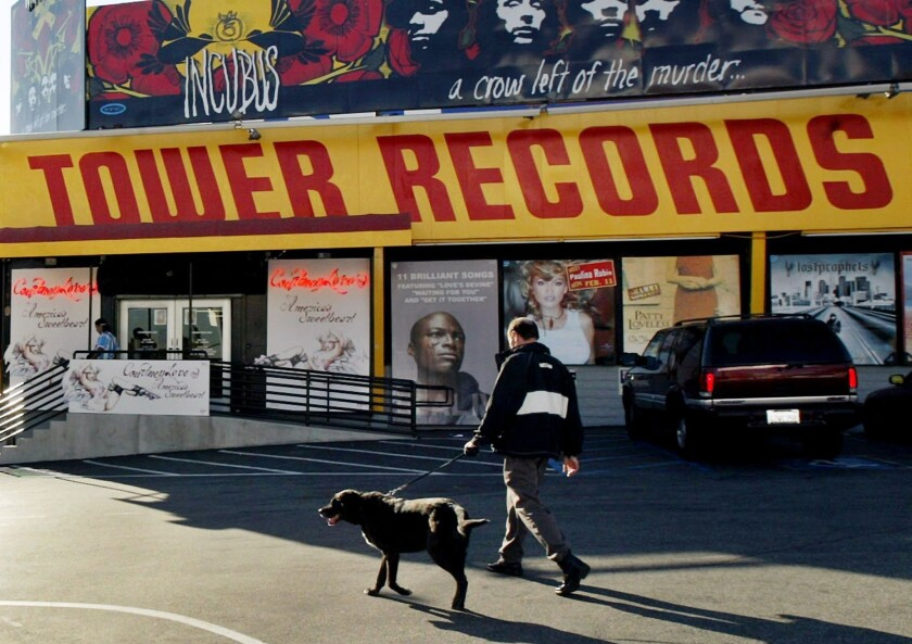 No historic designation for Tower Records store on Sunset Strip
