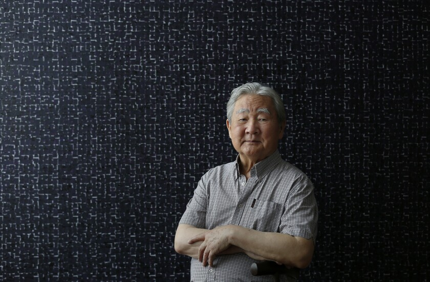 LOS ANGELES, CA SEPTEMBER 6, 2017: Portrait of artist Young-il Ahn in his home in Los Angeles, CA