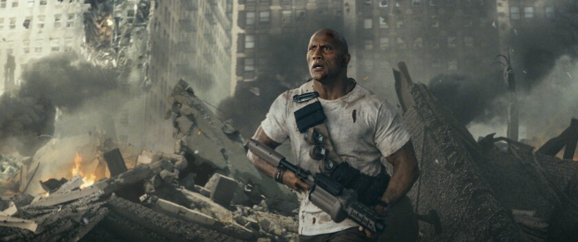 "Dwayne ""The Rock"" Johnson in Rampage."
