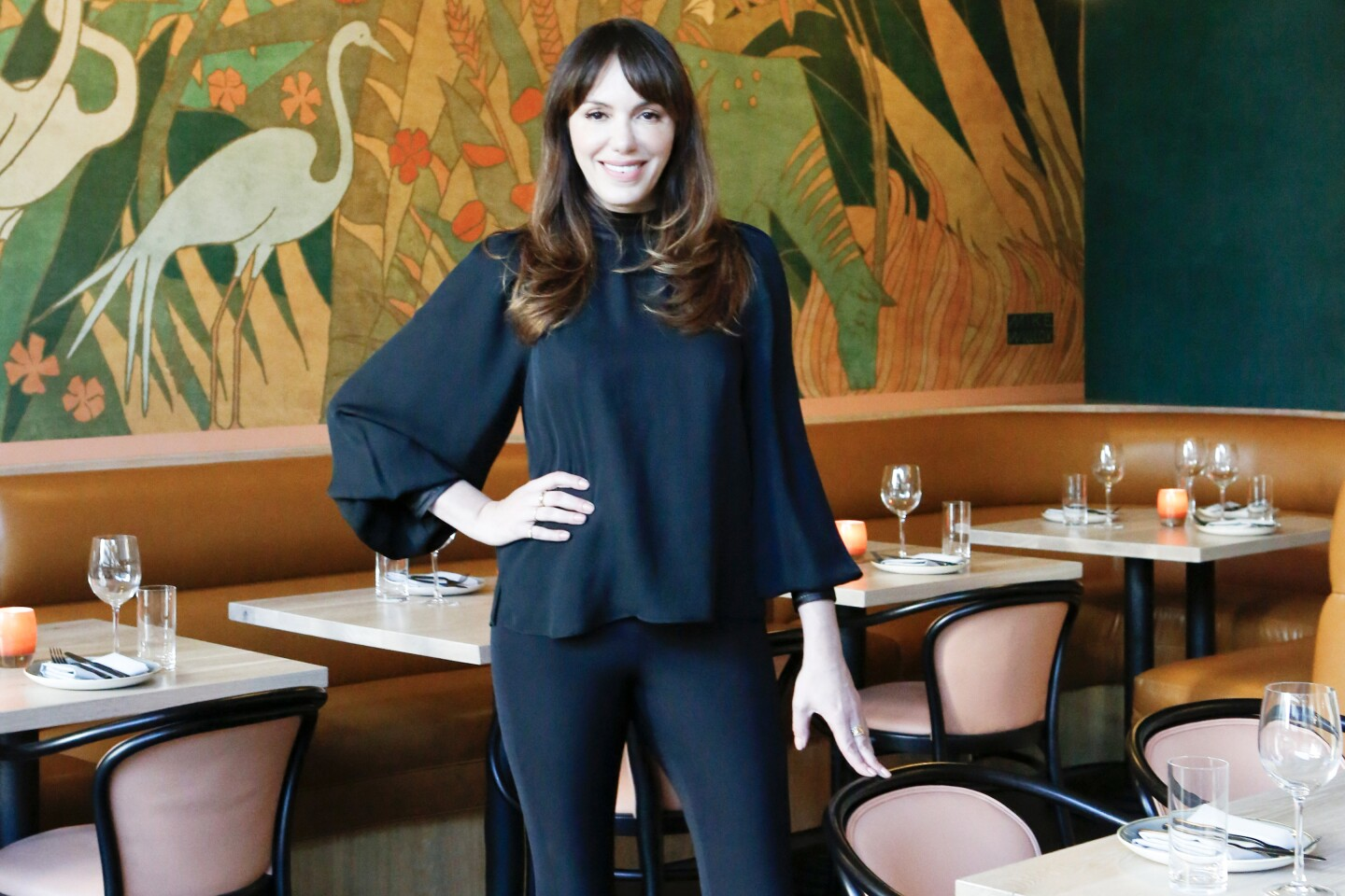 Interior designer Marissa Zajack photographed at Red Herring restaurant in downtown Los Angeles.