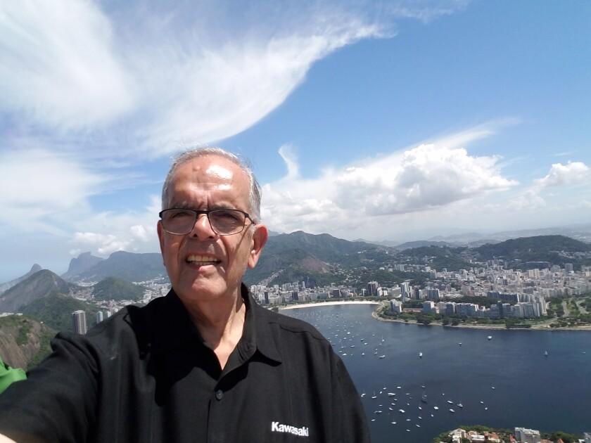 Steve d'Adolf, 77, of Rancho Bernardo in Rio de Janeiro, Brazil,  in 2016