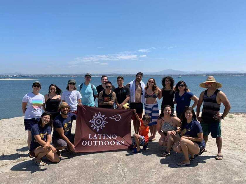 Latino Outdoors San Diego participants visited Silver Strand State Beach in 2019.
