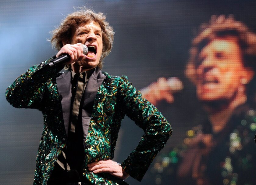 Mick Jagger performs at the Glastonbury Festival in England, just a few weeks shy of his 70th birthday