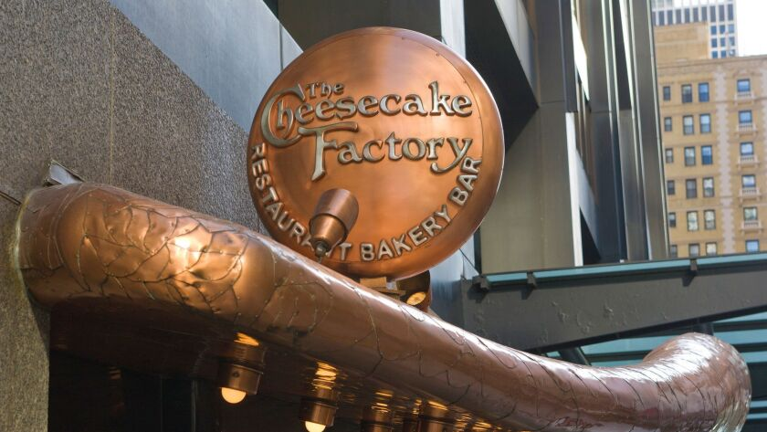 A state investigation found that janitors at eight Southern California Cheesecake Factory restaurants worked without proper rest or meal breaks. Above, a Cheesecake Factory in Chicago.