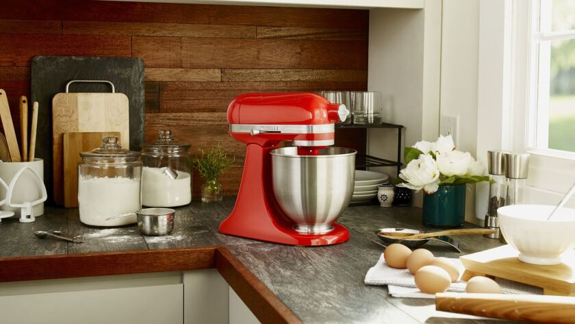 KitchenAid Artisan Mini 3.5-Quart Mixer at Bed Bath & Beyond is a kid-friendly tool for family cooking, according to Brian Malarkey,chef and partner of Herb & Wood.