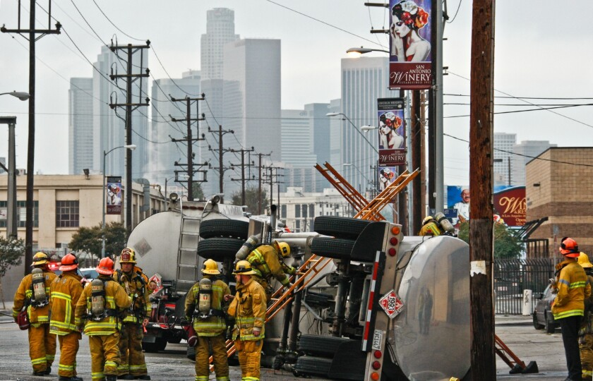 Los Angeles firefighters