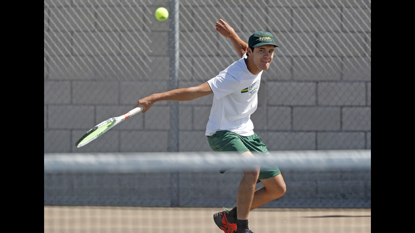 Photo Gallery: Edison vs. Walnut in boys' tennis