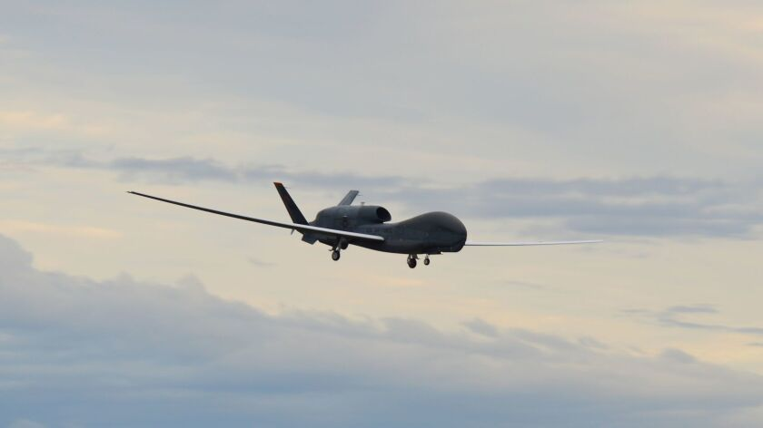 An RQ-4 Global Hawk unmanned surveillance drone like the one shot down by Iran.