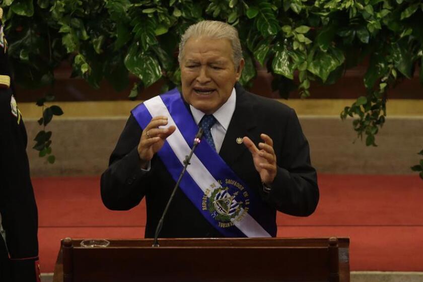 En la imagen, el presidente salvadoreño, Salvador Sánchez Cerén. EFE/Archivo