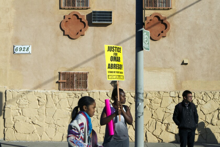Protesting the Omar Abrego case