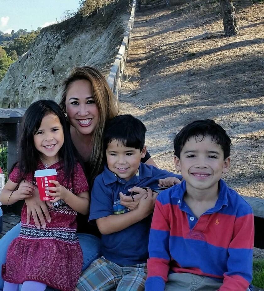 Katherine Williams and three of her children.