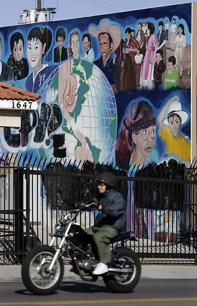 A mural along Beverly Boulvard in the historic Filipinotown neighborhood of L.A.
