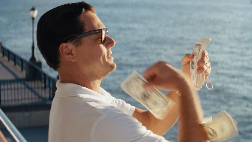 Leonardo DiCaprio is Jordan Belfort in the movie THE WOLF OF WALL STREET, from Paramount Pictures an