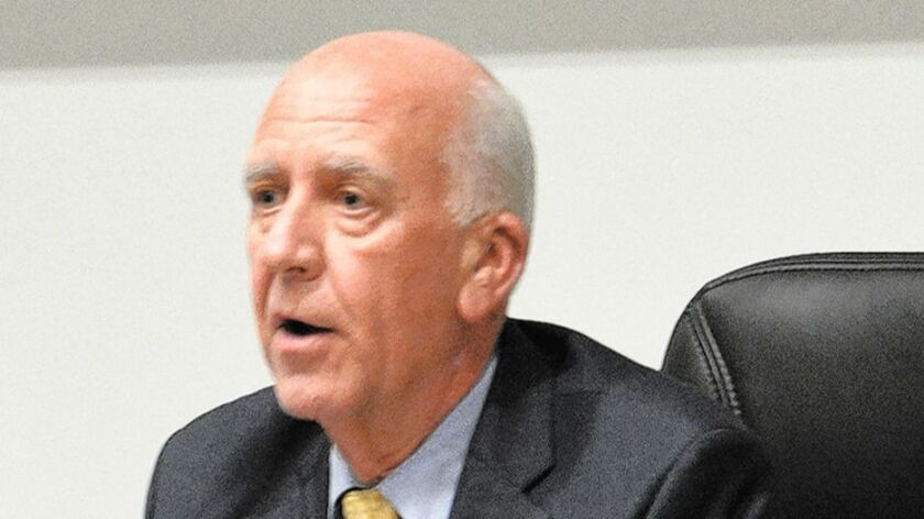 Supt. John Collins was fired by the Poway Unified School Board on July 10.
