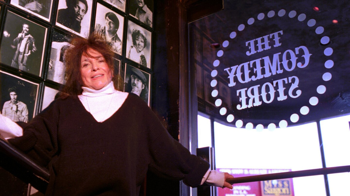 Mitzi Shore, the owner of the Comedy Store, is seen in 1993. Shore died Wednesday, April 11, at age 87.