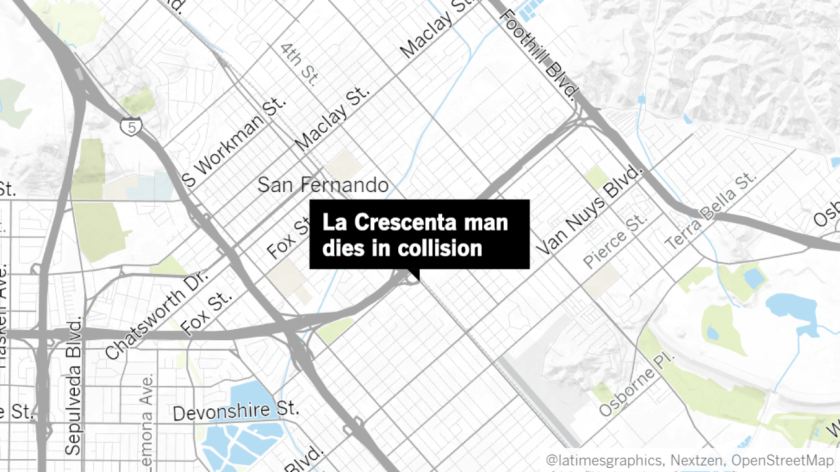 Arbi Azilazyan, a 40-year-old from La Crescenta, died on Nov. 10 after being thrown from his motorcycle in a traffic collision on the 118 Freeway in San Fernando, according to California Highway Patrol.