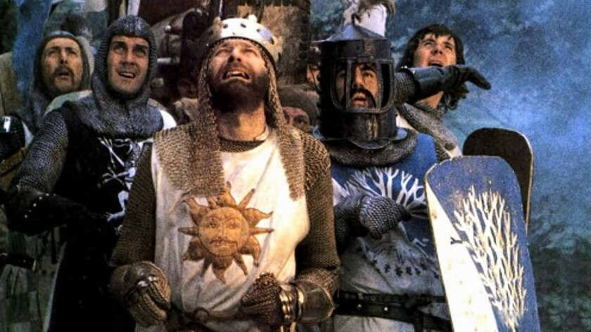 "The 1974 comedy ""Monty Python and the Holy Grail"" screens as part of a Python double feature at the New Beverly."