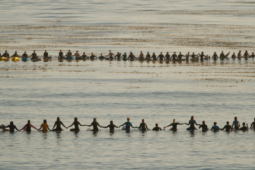 Isla Vista memorial paddle-out