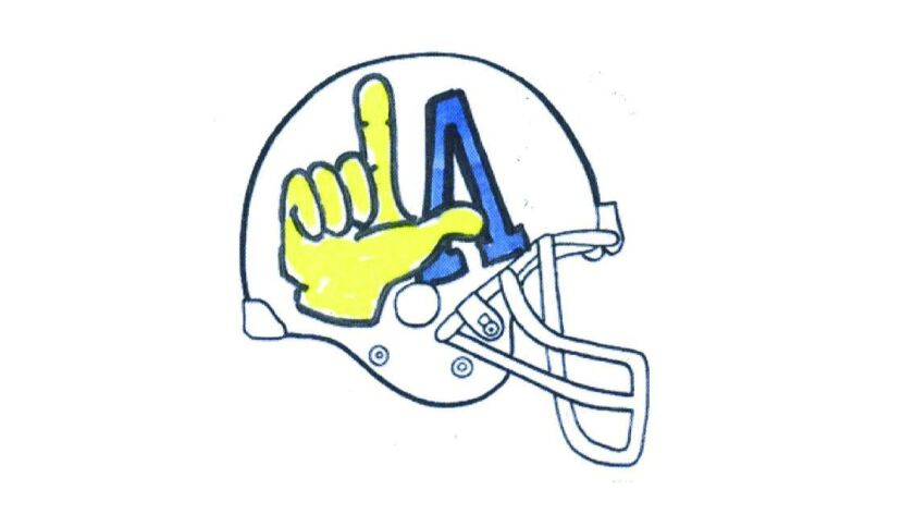 Kevin Jankowski was declared the winner of this caption contest with a helmet design that mocks the Los Angeles Chargers logo.