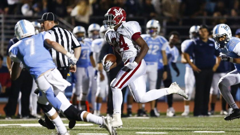 Monte Vista running back Jahmon McClendon rushed for 2,492 yards and 40 touchdowns during the Monarchs' championship season.
